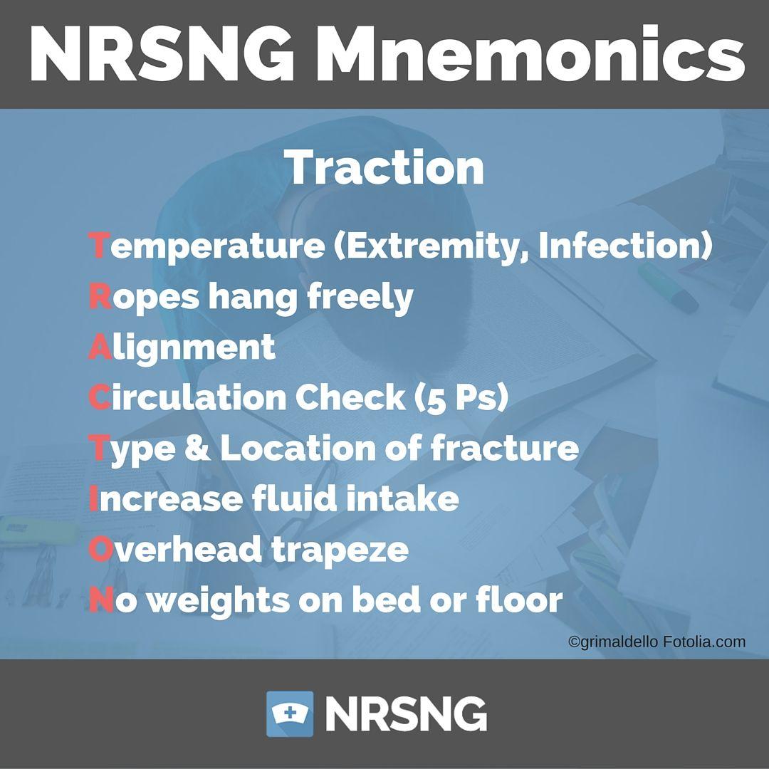 traction nursing mnemonics nephrology nursing, meningitis