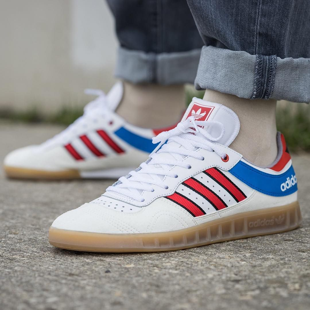 adidas originals by9535 handball top schuhe sneaker vintage white