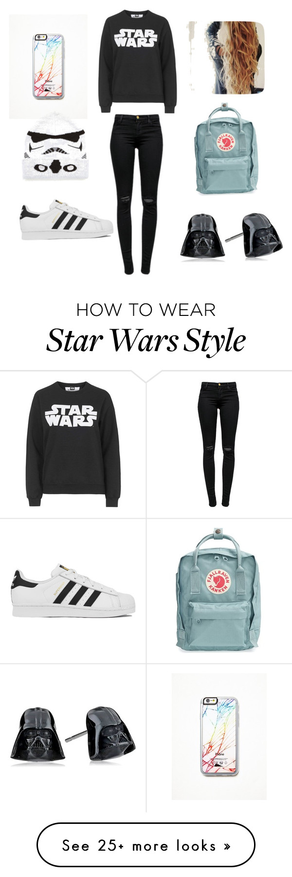 """""""Star Wars!"""" by jenben110 on Polyvore featuring J Brand, adidas, Fjällräven, Topshop, Free People, women's clothing, women, female, woman and misses"""