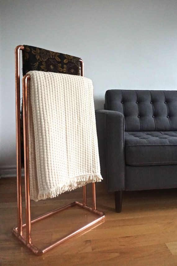 Free Standing Copper Blanket Stand Towel Rack By Shoptheother