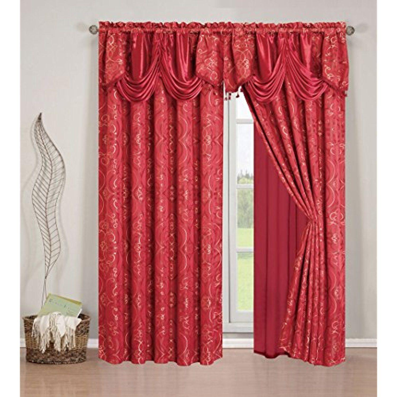 Elegant Home Beautiful Window Embroidery Curtain Drapes
