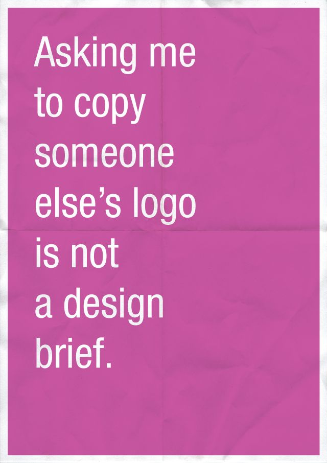Confessions of a Designer by Anneke Short - I could write a ten thousand pages book on what a brief isn't