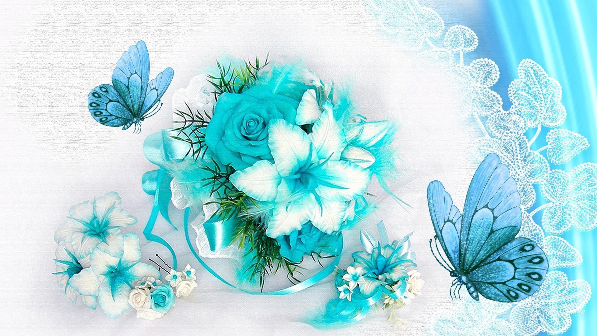 Butterfly Wallpaper Turquoise Aquamarine Floral Hd Desktop Wallpaper Oboi Oboi Dlya Rabochego Stola Kartinki