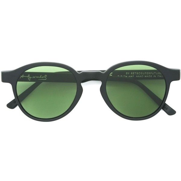 302ef8cca99e Retrosuperfuture Round Green Lenses Sunglasses (690 RON) ❤ liked on  Polyvore featuring accessories