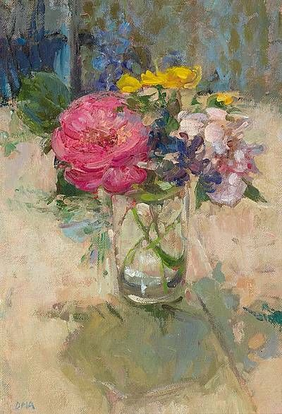 Summer Bunch Diana Armfield 1988 Oil Painting