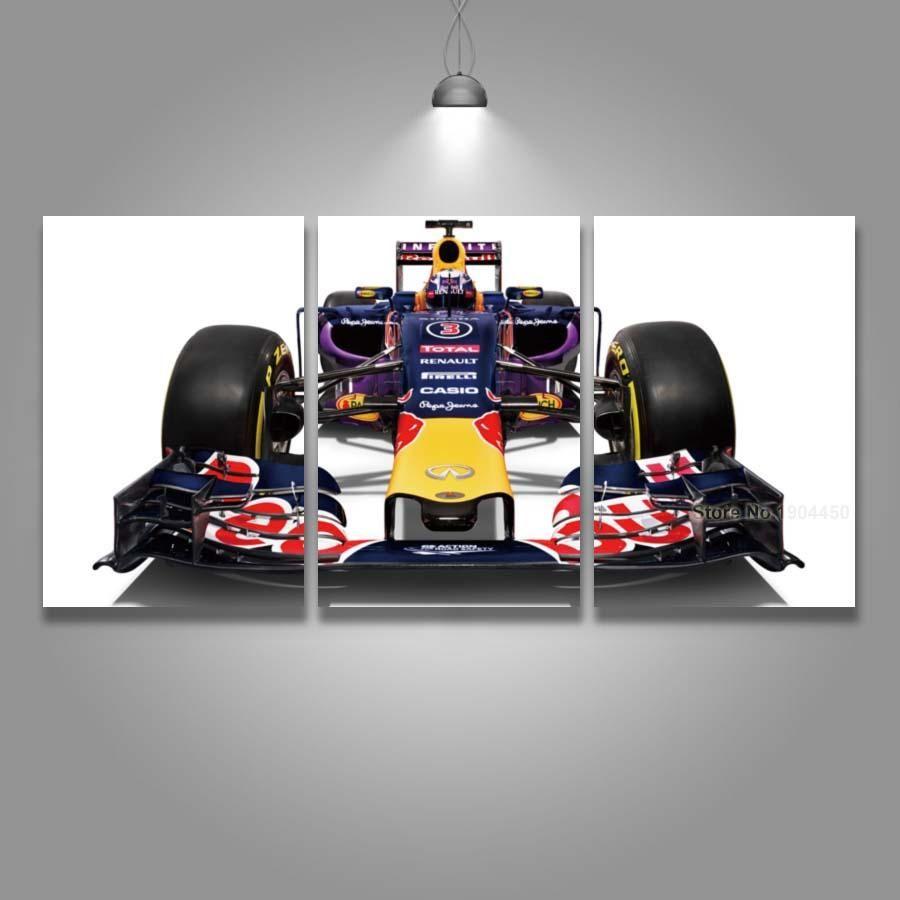 3 Panel Canvas Art Print Formula F1 Race Car Red Bull Wall Art