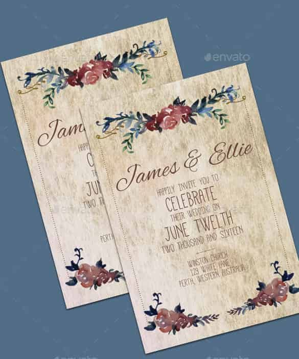 Wedding Invitation Template - 71+ Free Printable Word, PDF, PSD ...