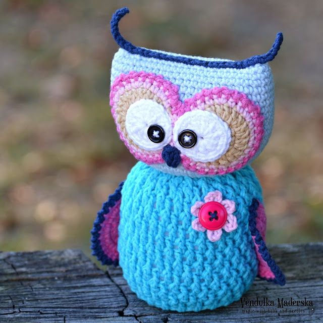 Crochet owl pattern by Vendula Maderska