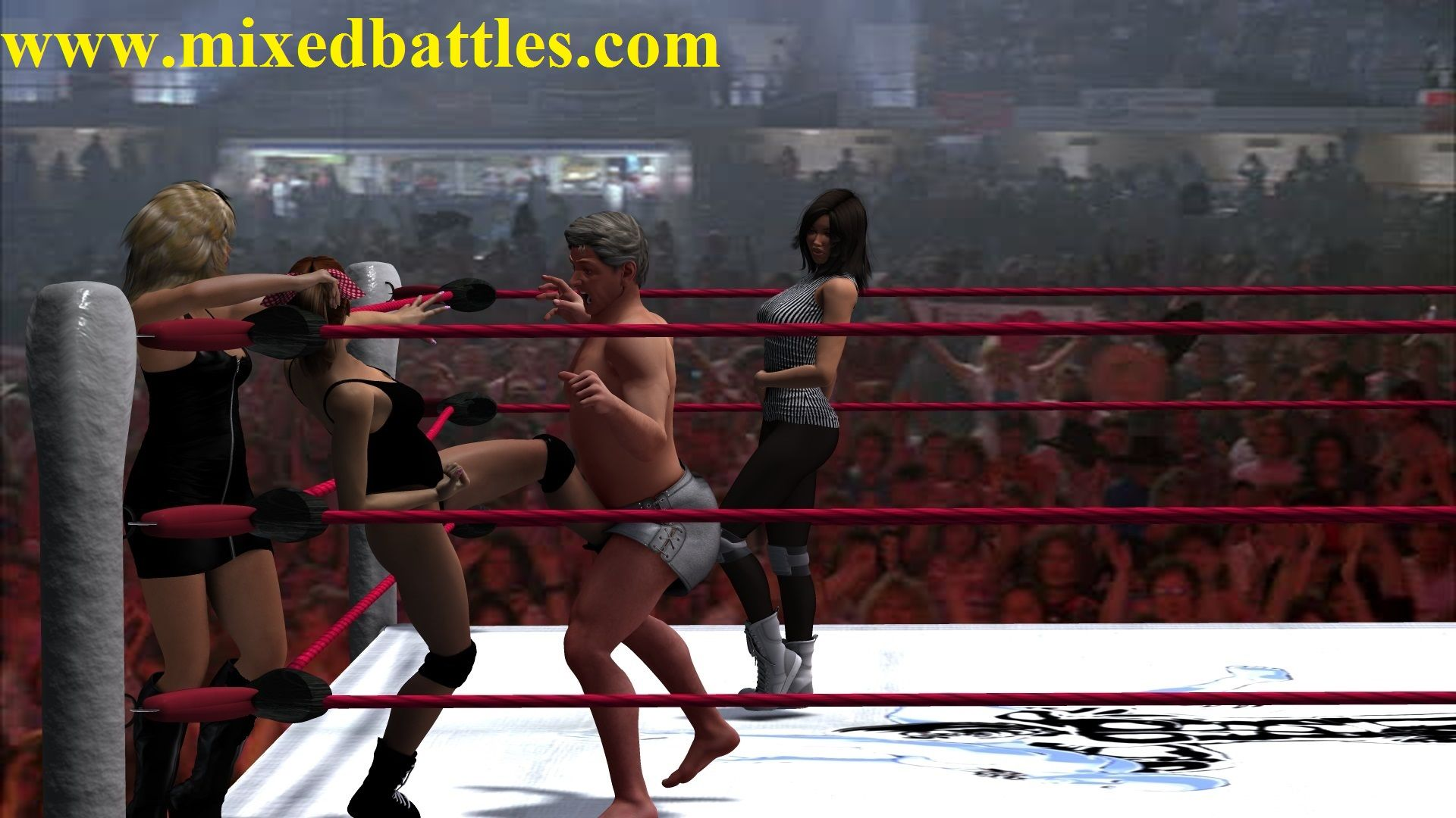 New #mixedwrestling pictures #ballbusting gallery added to