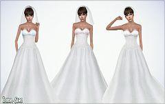 Sims 3 Wedding Dress Gown Bride The Sims 4 Roupas Vestido De