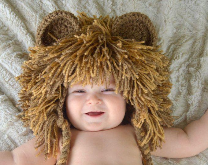 León - bebé León peluca - sombrero de Halloween traje de León ...