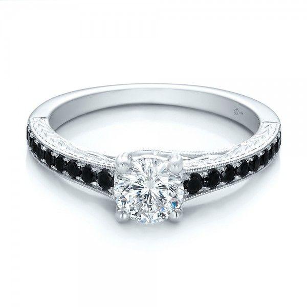 BLACK DIAMOND ENGAGEMENT RINGS Custom Black Diamond Engagement