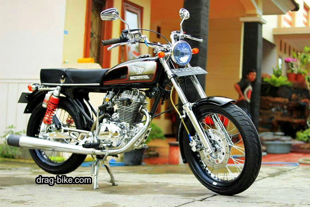 Foto gambar modifikasi motor cb 100 keren terbaru Honda cb