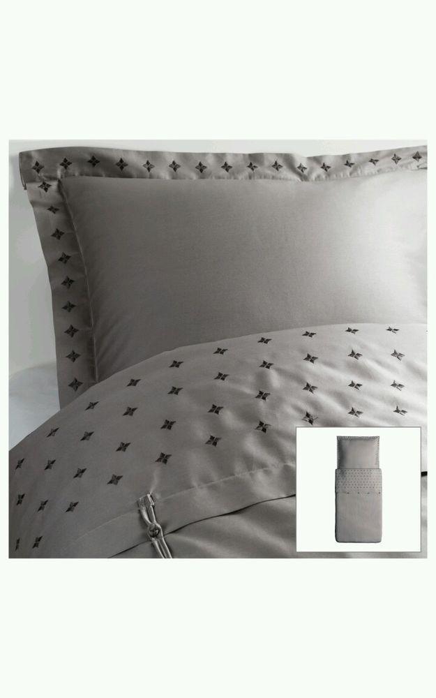 2 x ikea bettw sche vinranka grau 140 x 200 cm neu ovp. Black Bedroom Furniture Sets. Home Design Ideas