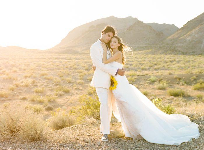 Wedding Sunset During A Las Vegas