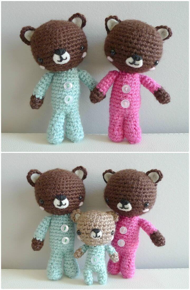 50 Free Crochet Teddy Bear Patterns | Crochet teddy bear pattern ...