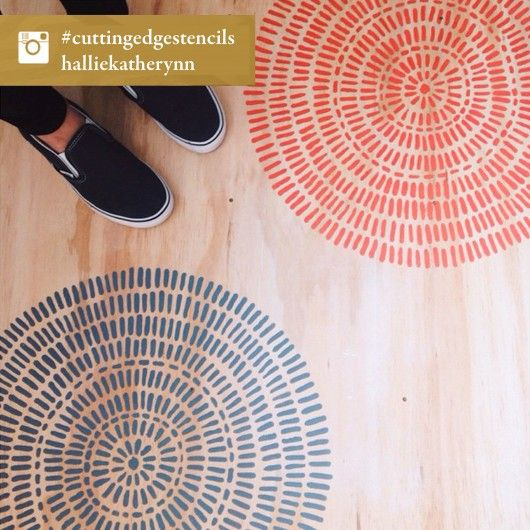 A DIY Stenciled Plywood Floor Using The Maloca Stencil