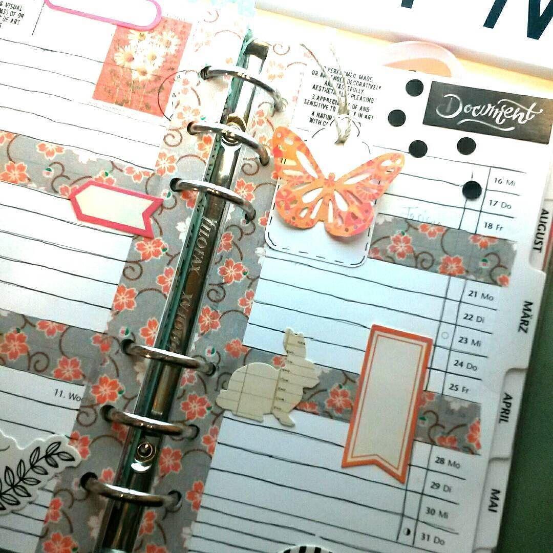 {Filofax}  ... Osterzeit  #binschonimmärz#plannerdecoration #filofax#filofaxing#scrapbooking#papercraft#cratepaper#marthastewart#washitape#habmeineseitedannauchnochmalfertiggemacht @anki_kreativ_design by ina.mae.hner