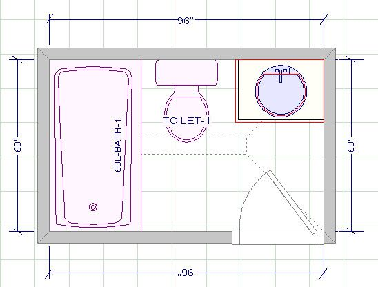 Image Result For 5 X 8 Bathroom Layout