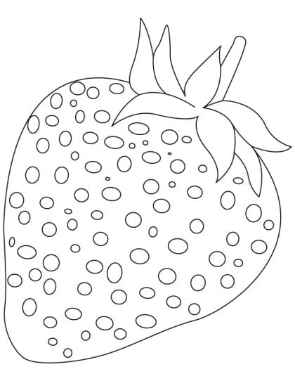Strawberry Coloring Page Download Free Strawberry Coloring Page