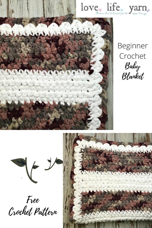 Photo of Beginner Crochet Blanket Pattern with Full Video Tutorial