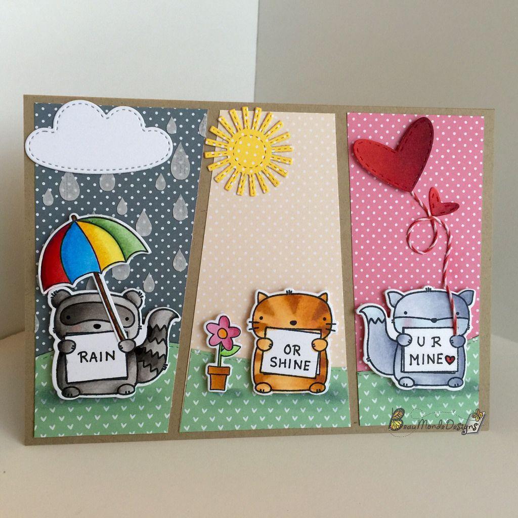 Rain Or Shine U R Mine Mama Elephant Cards Mama Elephant Stamps Creative Cards