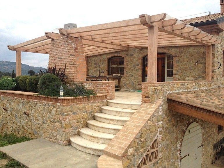 Pergolati in legno per esterni legno case di legno e for Progetti di cottage sulla spiaggia e planimetrie