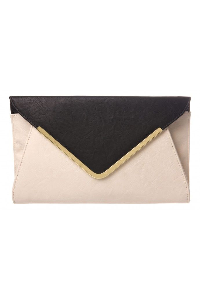 92fed38116 Envelope Clutch in STONE & BLACK #3396 - colette by colette hayman ...