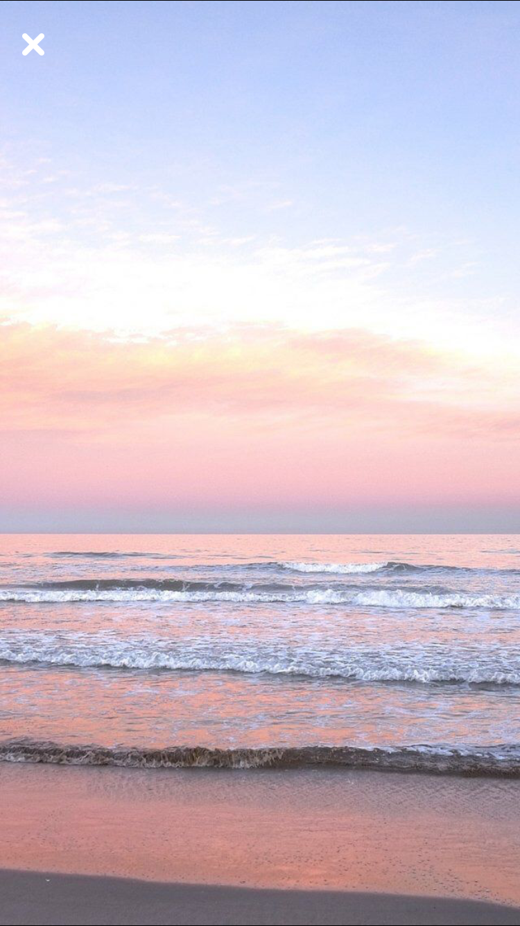 Orange Sunset Light And Blue Wave Wallpapers Free