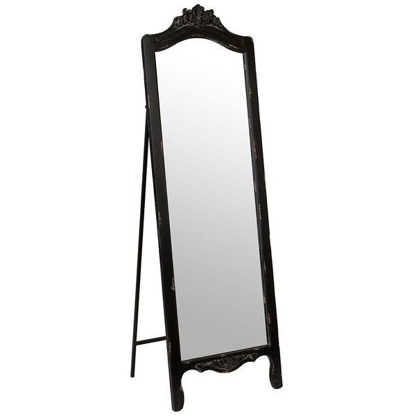 Ornate Distressed Black Cheval Mirror (250 BRL) ❤ liked on Polyvore featuring home, home decor, mirrors, decor, furniture, vintage style home decor, leaf mirror, antique looking mirrors, vintage style mirrors and distressed black mirror