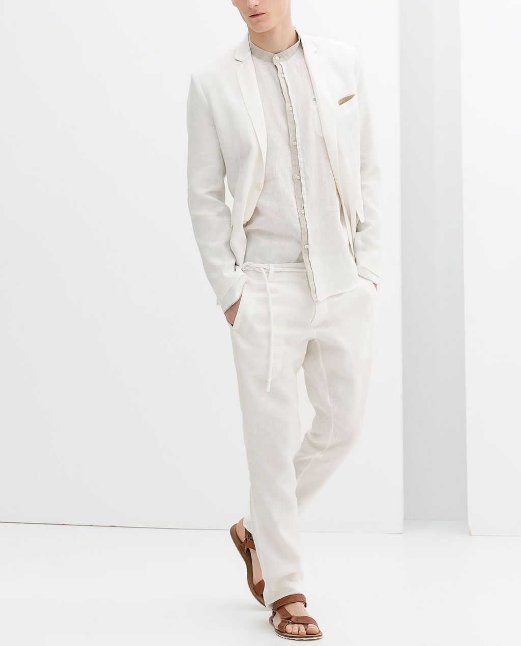00c896f26f0c3 ZARA - MAN - BASIC LINEN SUIT