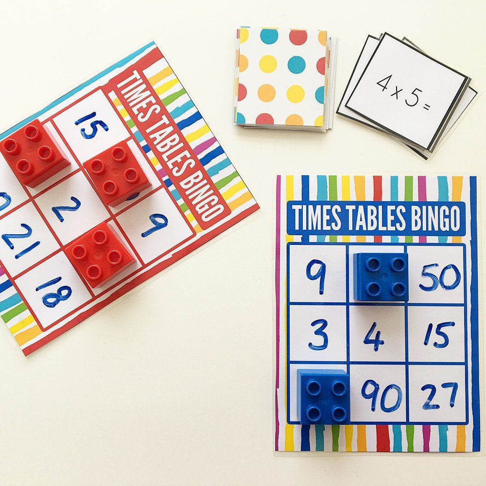 Maths Games for Kids: Times Tables Bingo Free Printable | Printable ...