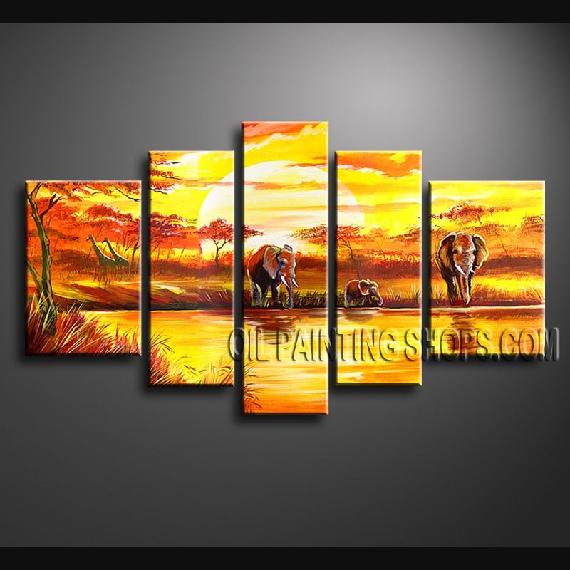 Large Contemporary Wall Art Hand Painted Oil Painting Stretched ...