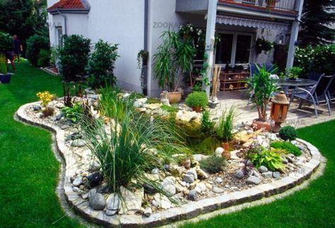 Bildergebnis für gartenteich gestaltungsideen jardines Pinterest