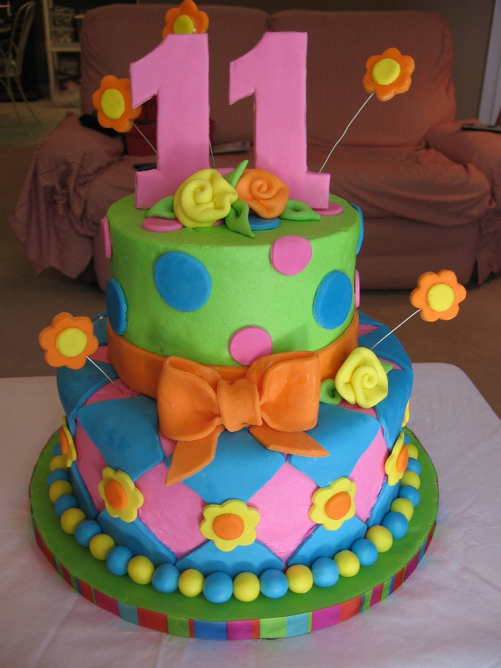 11th Birthday With Images Birthday Cake Decorating Cool