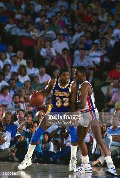 Fotografia de notícias : Earvin Magic Johnson of the Los Angeles Lakers...
