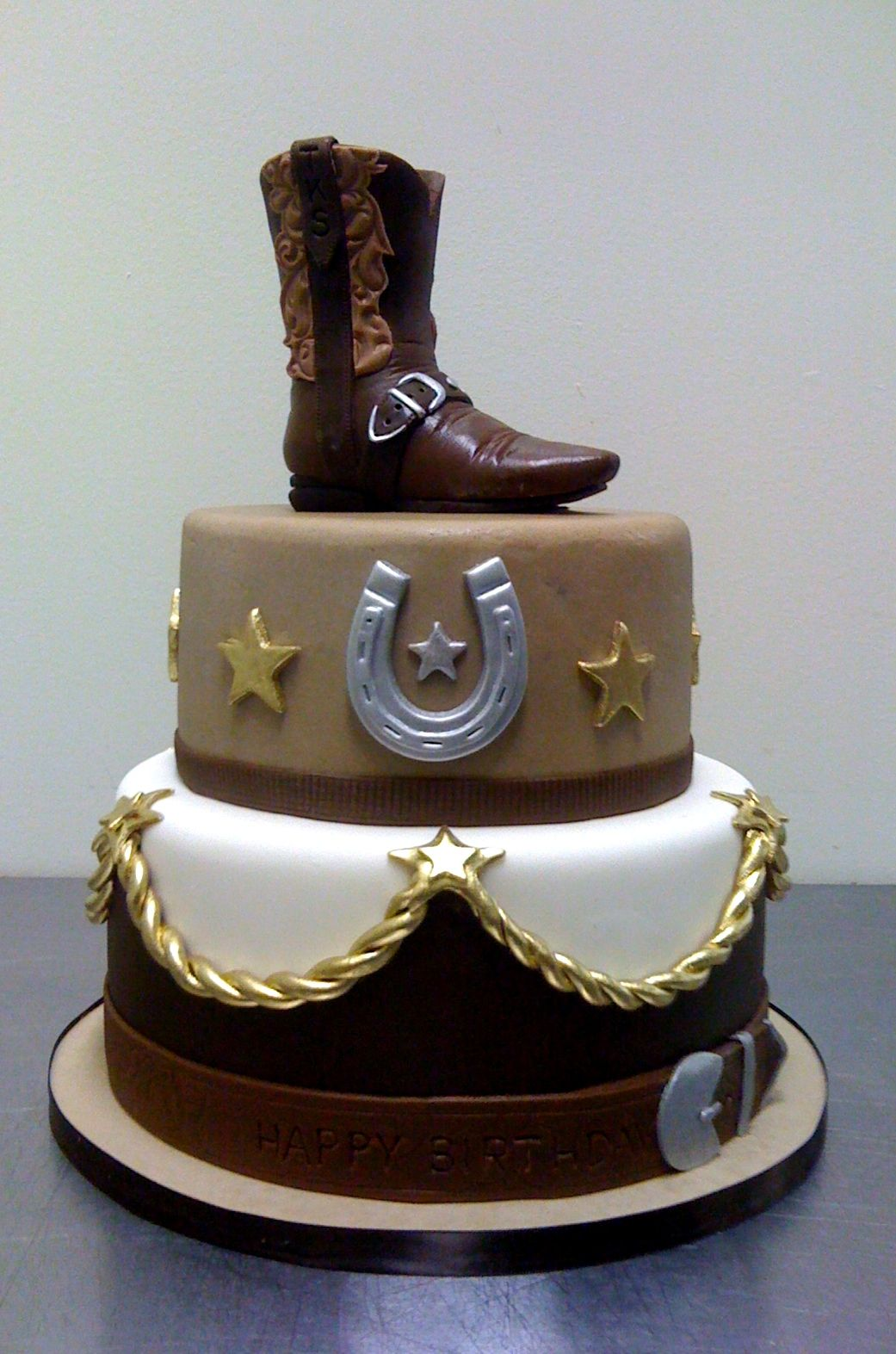 Enjoyable Amy Beck Cake Design Chicago Il Cowboy Boot Birthday Cake Funny Birthday Cards Online Aboleapandamsfinfo