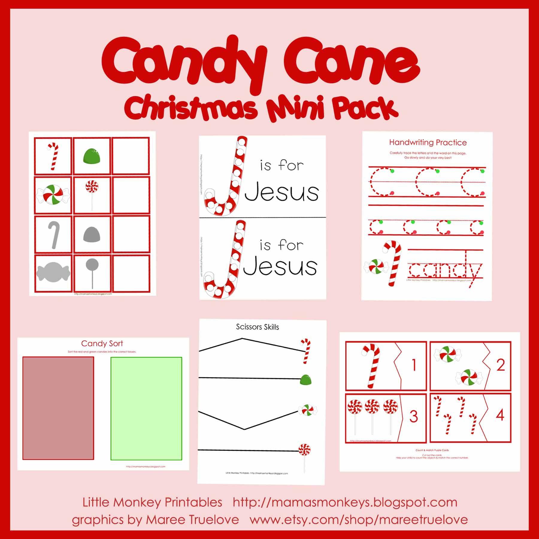 Candy Cane Preschool Mini Pack