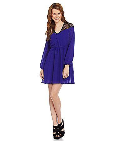 GB LaceTop Woven Dress #Dillards. $41.40