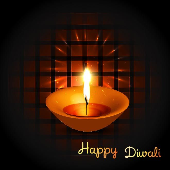 Free Vector Happy Diwali Oil Diya Flame Happy Diwali Diwali Greeting Cards Diwali
