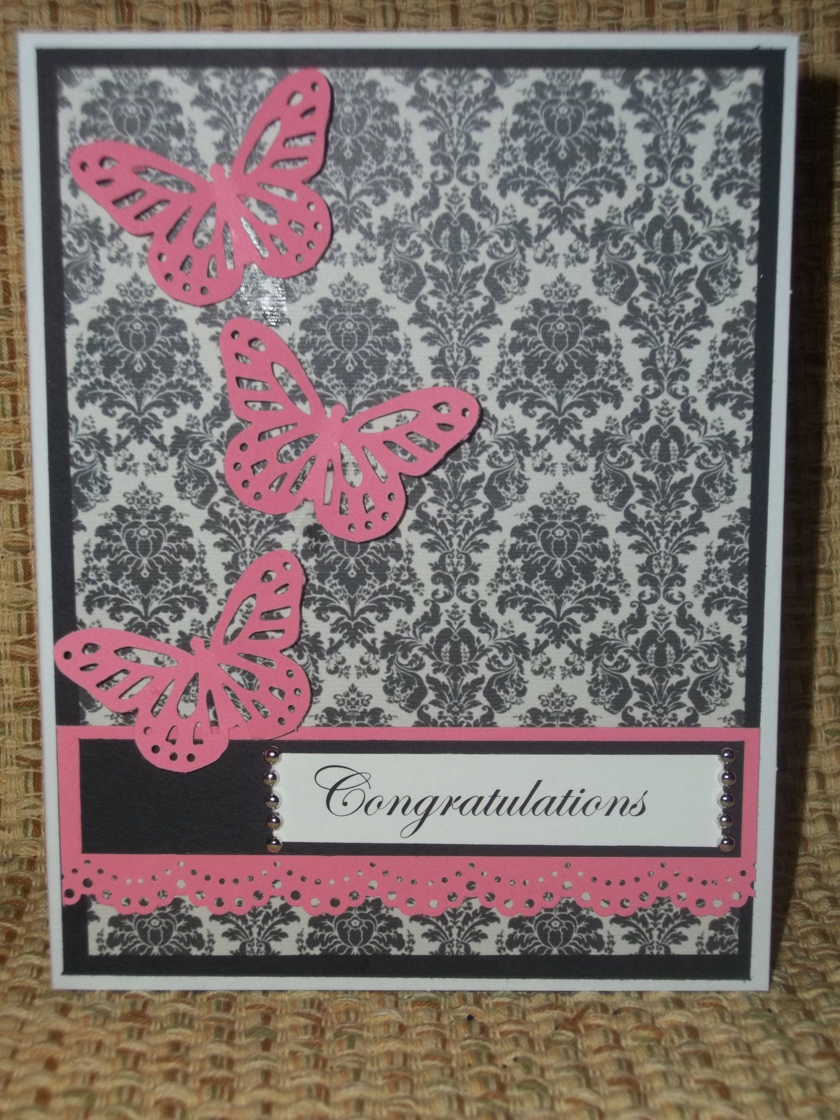 Congratulations Butterfly cards