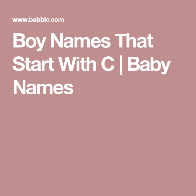 Boy Names That Start With A | Baby Names