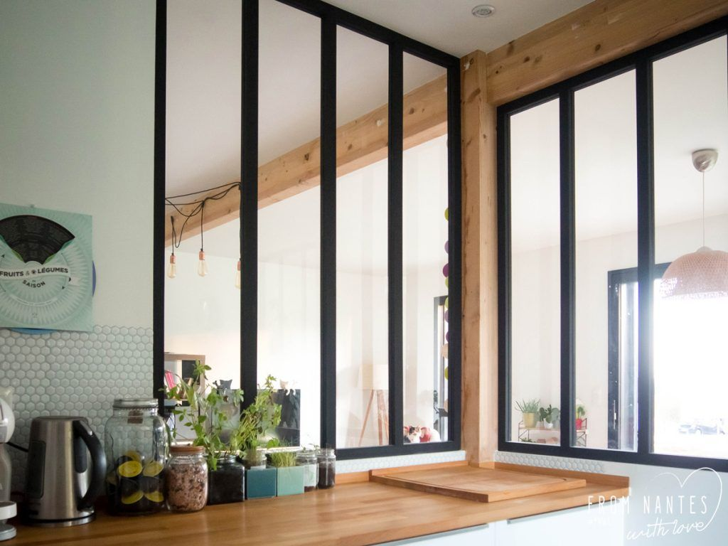 Atelier De La Cuisine Nantes diy - une verrière style atelier pas chère pour séparer