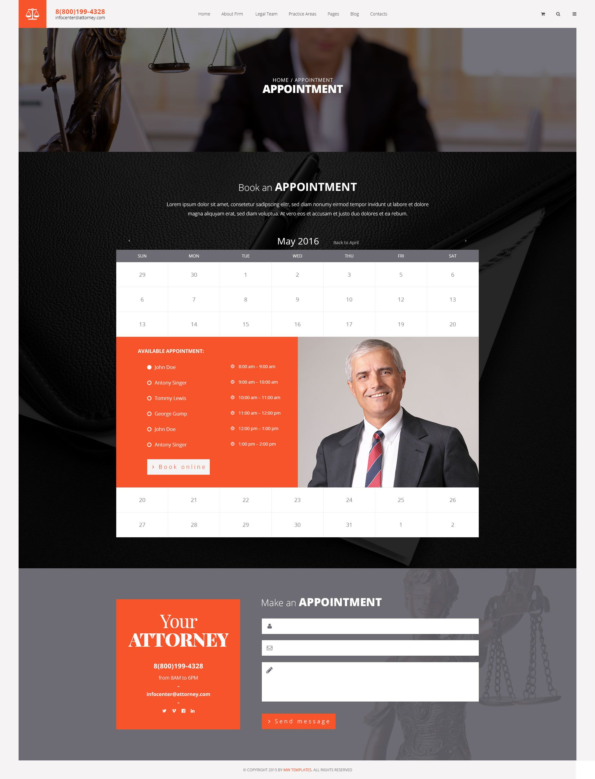Attorneys Law Firm Private Lawyer Psd Template Firm Law