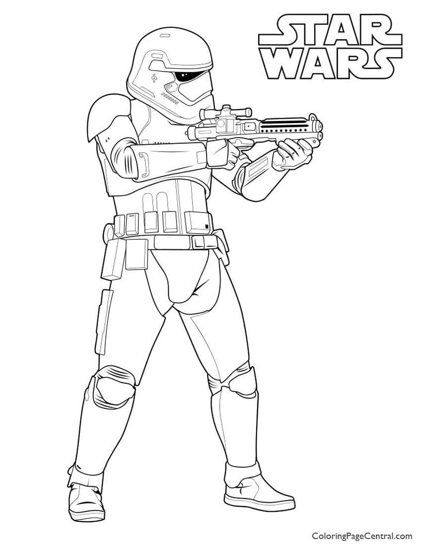 Star Wars A First Order Storm Trooper Coloring Page In 2020 Star Wars Coloring Book Star Wars Colors Star Wars Prints