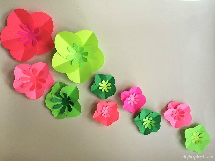 Easy diy paper flowers tutorial diy paper craft punches and flowers easy diy paper flowers tutorial mightylinksfo