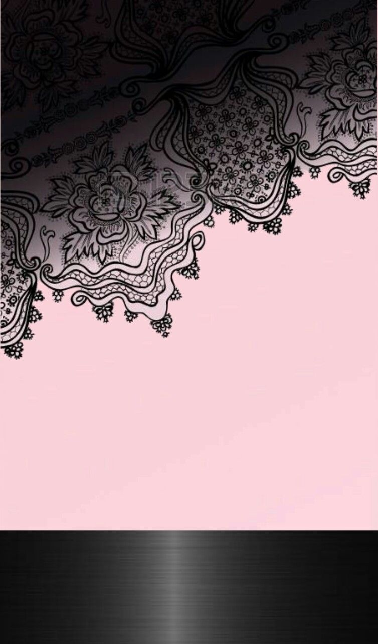 Black Pink Lace Wallpaper By Artist Unknown Lace Wallpaper Lace Iphone Wallpaper Wallpaper