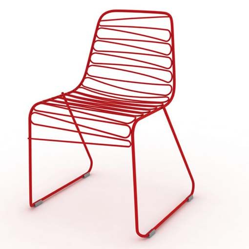 red wire chair.   chairs   pinterest   wire chair, steel furniture