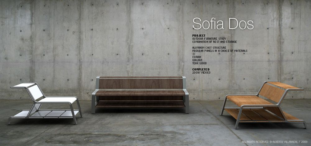 Sofia Dos   Outdoor furniture study combination of rest and storage