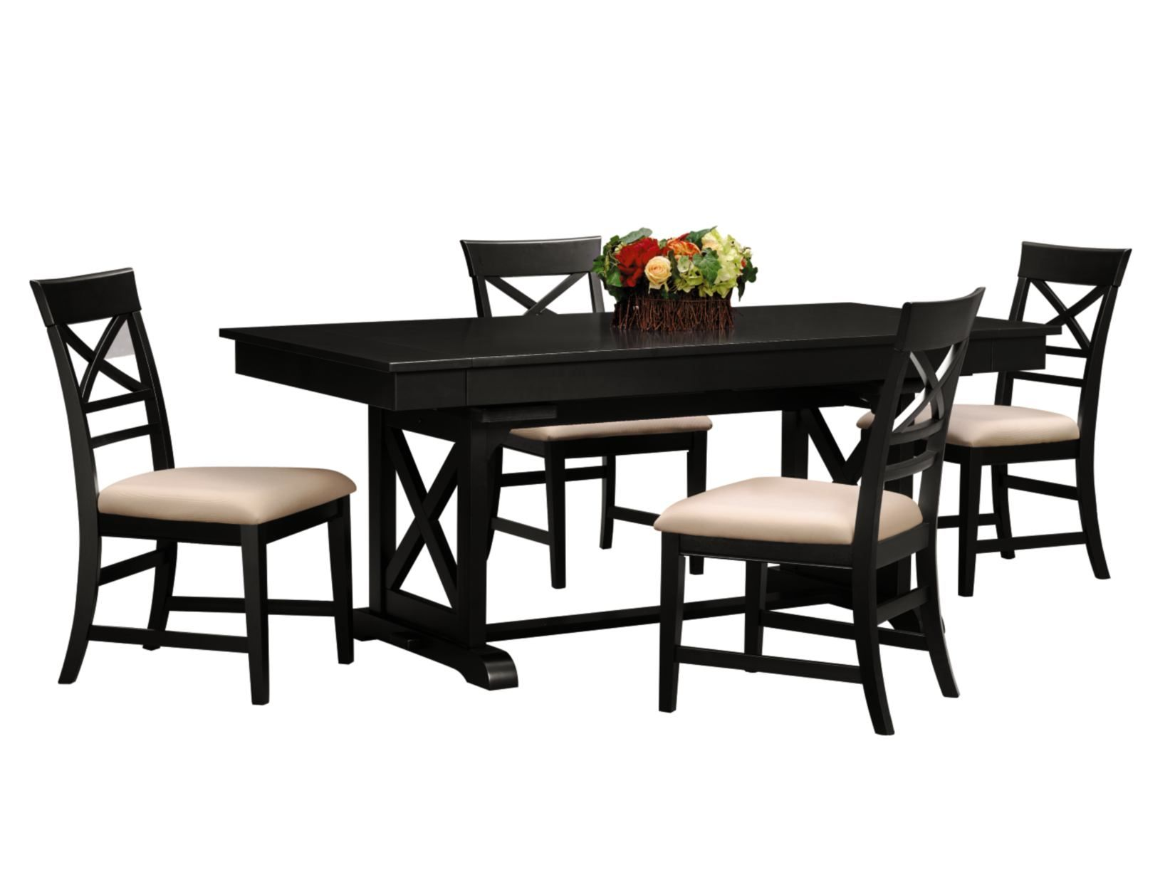 Plantation Cove 5Pc Black Dinette  American Signature Furniture Unique City Furniture Dining Room Design Decoration